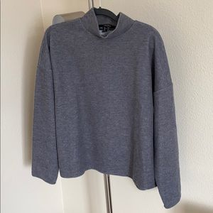 Forever21 Gray mid-turtle neck sweater